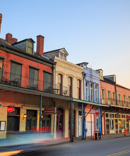 Photo of a street in New Orleans
